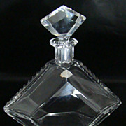 Josephinenhutte Lead Crystal Decanter with Original Label � Circa: Early-Mid 1900�s