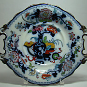 Hand Painted Gaudy Ironstone Tazza   Circa: Mid 1800s
