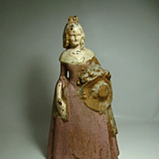 Cast Iron Southern Belle Doorstop  Circa: Late 1800s - Early 1900s