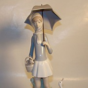 REDUCED Lladro Figurine � �Girl With Umbrella� � Closed Edition � c. 1969