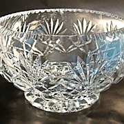 Cut Glass Bowl with 16-Point Stars