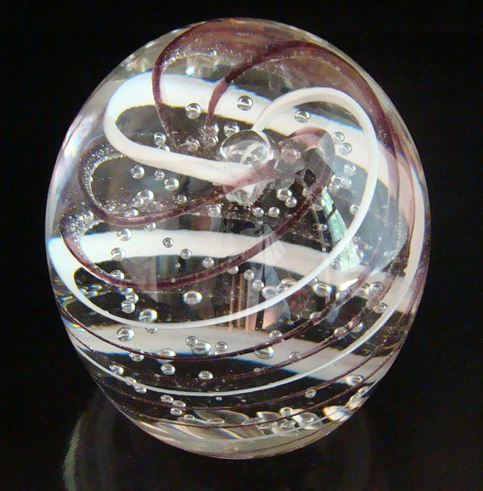 Pairpoint Controlled Bubble Paperweight