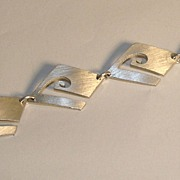 Sterling Silver Square-Linked Bracelet