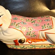 Vintage Chinese Porcelain Head Rest/Pillow � Child Figure