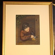 Lemon Gold Framed Hand Colored Print �Dutch Boy�