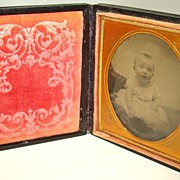 Tintype Formal Portrait of a Baby � Circa: Mid 1800�s