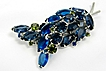 Beautiful Blue Juliana Cross-over Brooch DeLizza and Elster