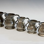 SALE Graduated Set Of Pewter Measures