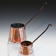 SALE Pair Of Copper Cider Ladles