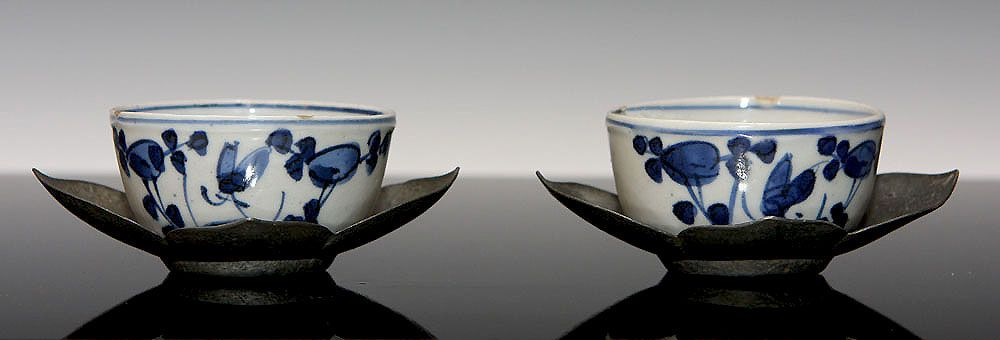 Pair Ming Dynasty Porcelain Cups