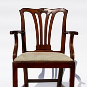 Chippendale Fruitwood Arm Chair