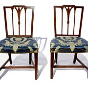 Pair English 18th Century Side Chairs