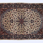 "SALE Persian Rug With Elaborate Floral Pattern 72"" x 50"""
