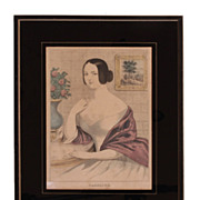 Lithograph of &quot;Caroline&quot;
