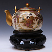 Japanese Satsuma Porcelain Micro Size Teapot