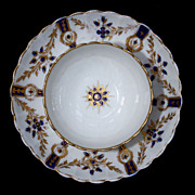 Salopian Porcelain Cobalt Blue & Gold Cup And Saucer