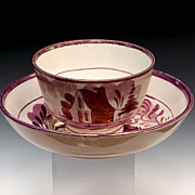 Dawson Sunderland Lustre Porcelain Cup And Saucer
