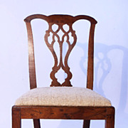 Maple American Country Chippendale Side Chair