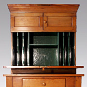 American Pine Two Piece Plantation Desk