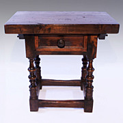 Spanish Native Wood One Drawer Table