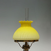 Yellow Satin Glass Peg Lamp