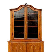 Dutch Walnut & Marquetry Corner Cabinet