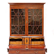 Georgian Mahogany & Satinwood Secretary