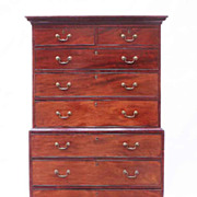 Georgian Mahogany Chest On Chest