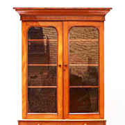English Faded Mahogany Bookcase
