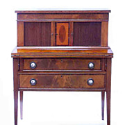 Federal Mahogany Tambour Writing Desk