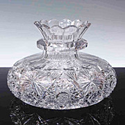 American Brilliant Period Cut Glass Centerpiece Bowl