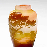 Galle &quot;Scenic&quot; Art Glass Vase