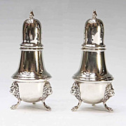 Pair Sterling Silver Salt And Pepper Shakers