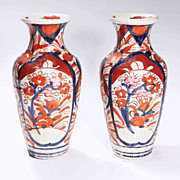 Pair Imari Vases
