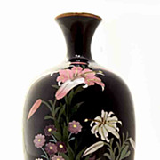 Exquisite Japanese Cloisonne Vase