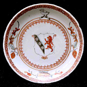 Export Armorial Porcelain Dish - Circa 1725