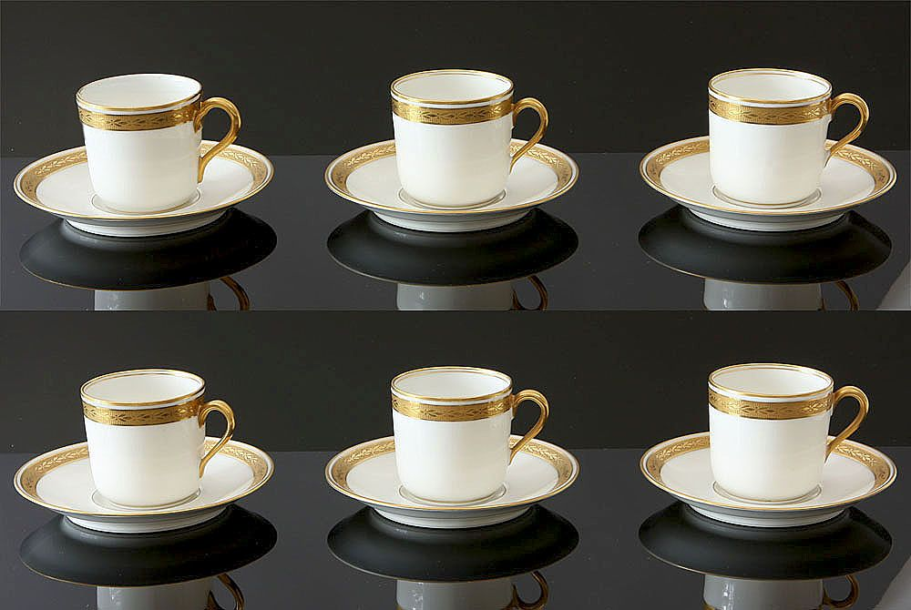 Six Demitasse Cups & Saucers - Haviland
