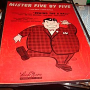 "1942 ""Mister Five By Five"" Sheet Music Great for Framing!"