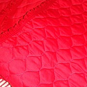 Vintage Machine Quilted Red Table Runner for Christmas or Any Time!