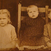 SALE Real Picture/Photo Postcard 3 Darling Children Very Serious!