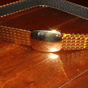 Nice Shiny Gold Tone Mesh or Slinky Snake Skin Look Stretch Ladies' Belt