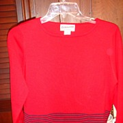 SALE Beautiful Pendleton Red and Black Sweater 72% Silk Size Small