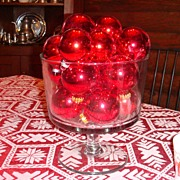 REDUCED Beautiful Large Clear Glass Truffle Bowl Punch Bowl