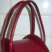 Vintage Red Snakeskin Purse