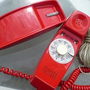 1976 Red Trimline Dial Phone