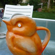 Orange Sevres Bird Pitcher
