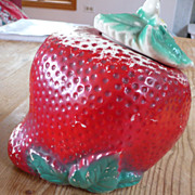 Vintage Sears Strawberry Cookie Jar