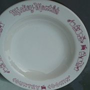 1969 Mickey Mantle Restaurant China Bowl