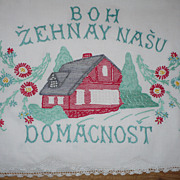Home Sweet Home Czech Embroidered Towel