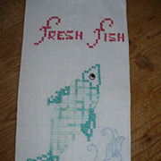 Fresh Fish Embroidered Towel